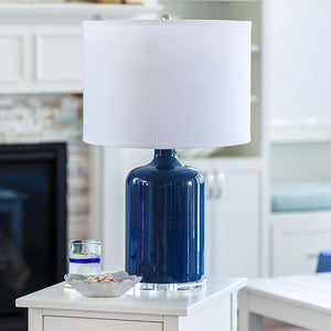 Napa Table Lamp-Navy