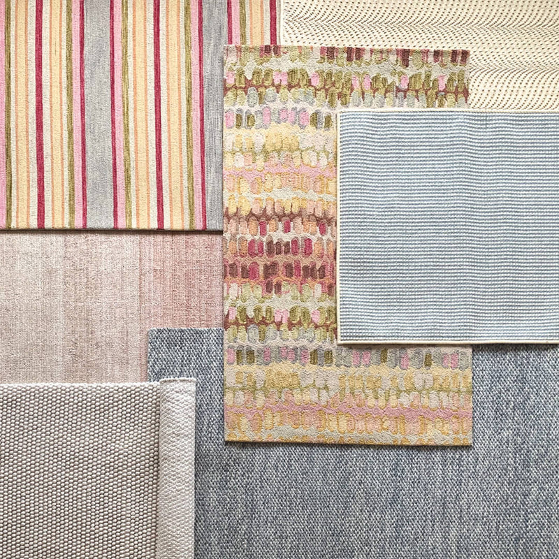 Paint Chip Pastel Micro Hooked Wool Rug