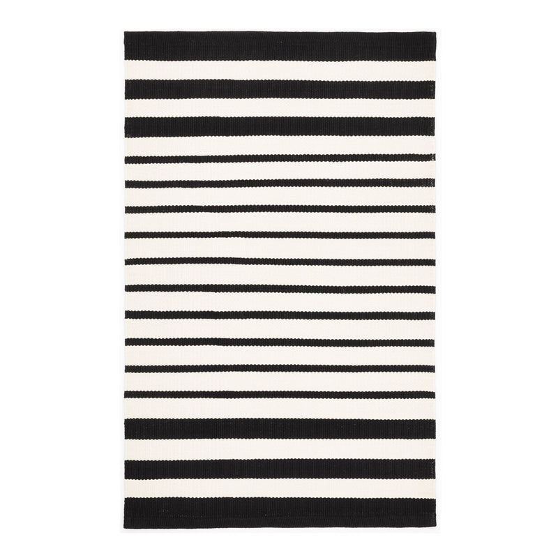Port Stripe Indoor Outdoor Rug - Black