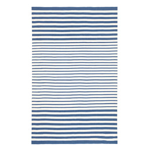 Port Stripe Indoor Outdoor Rug - Denim