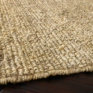 Reversible Jute Loop Rug: Natural Light