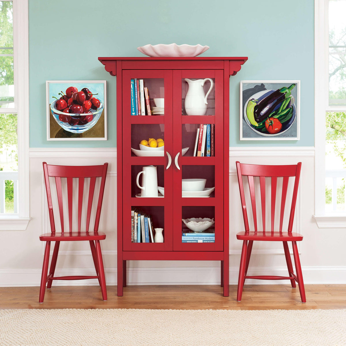 Dusk Blue Kitchen Cabinets: Ruby Glass Cabinet By Maine Cottage