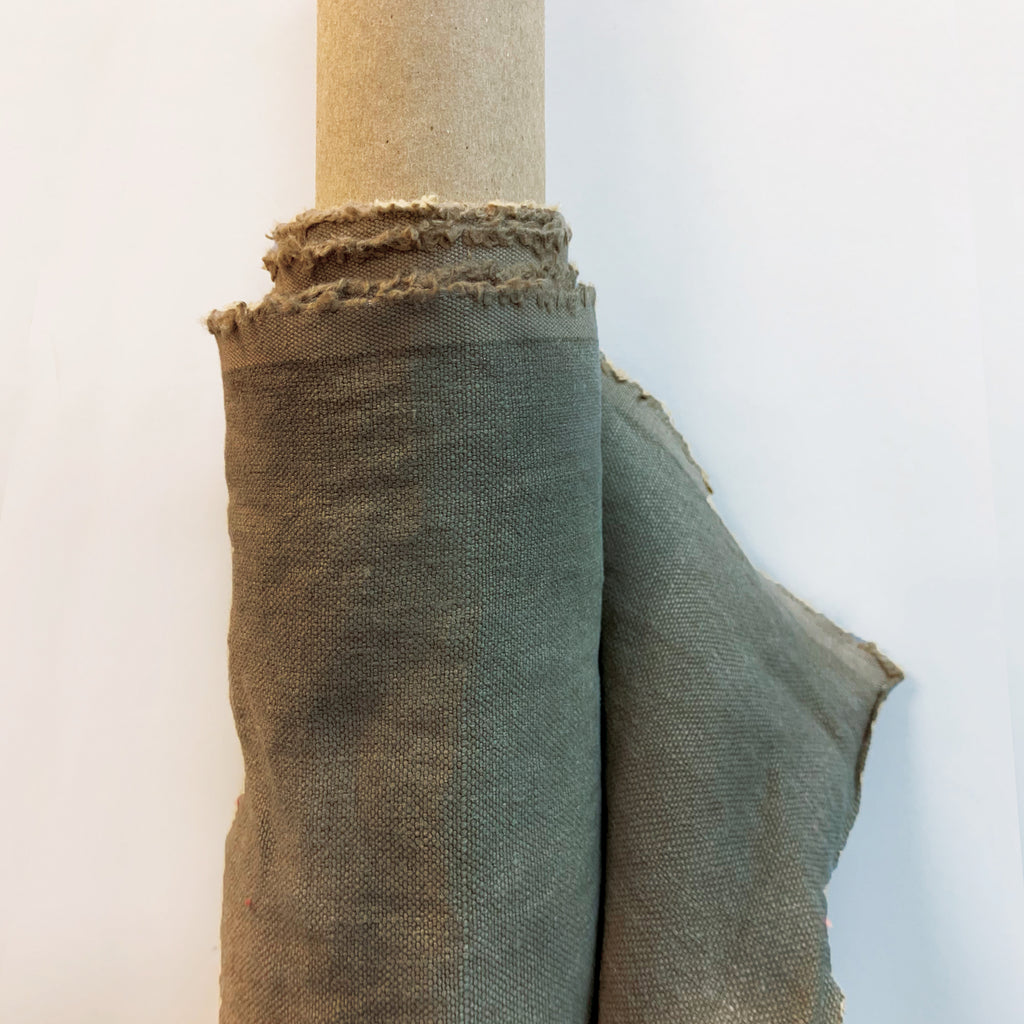 Stonewashed Linen: Bark <br> (6 Yards Available )