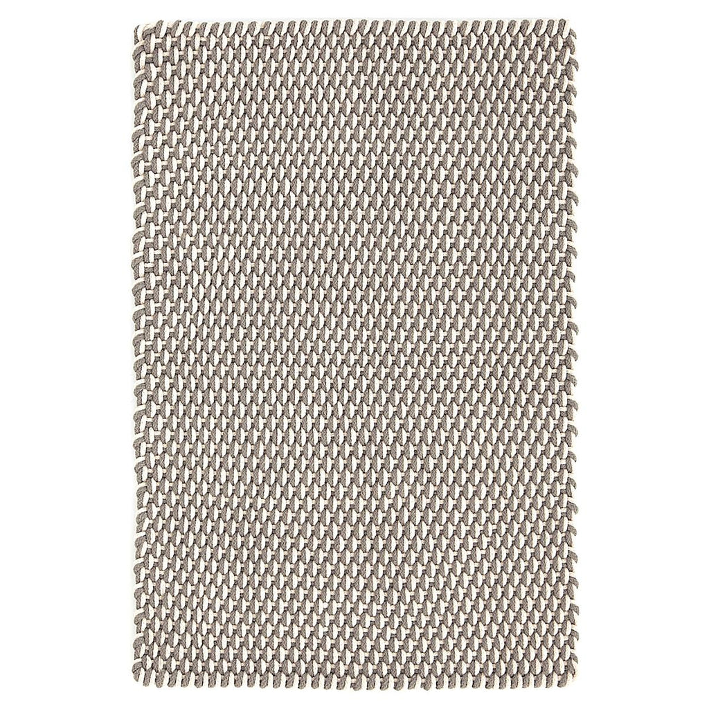 Two-Tone Rope Fieldstone/Ivory Indoor/Outdoor Rug