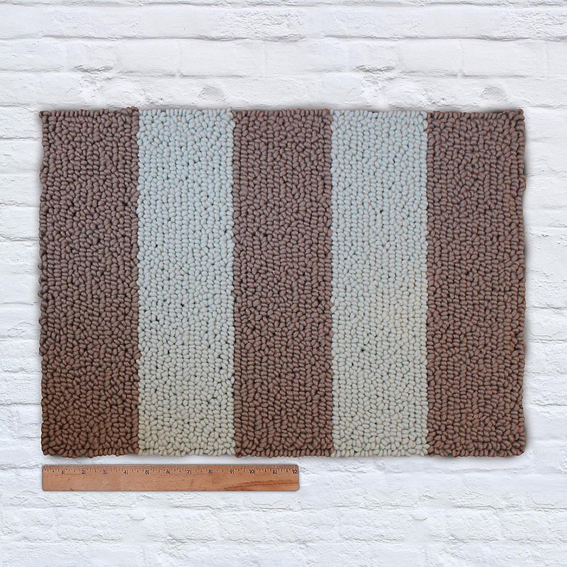 Waypoint Wool Rug Duo  Stripe - Bark + Bluebell