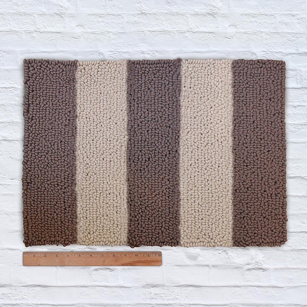 Waypoint Wool Rug Duo Stripe - Bark + Clay