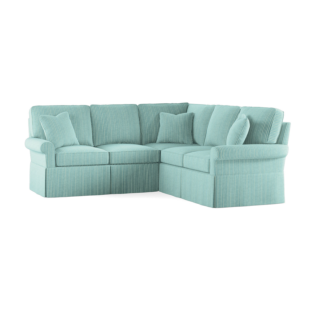 Wilton Skirted Left Arm Facing Loveseat Sectional