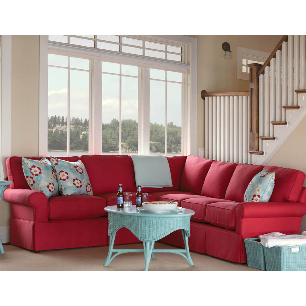 Wilton Skirted Right Arm Facing Loveseat Sectional
