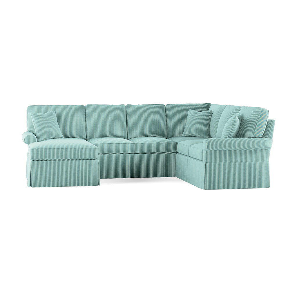 Wilton Skirted Left Arm Facing Medium Chaise Sectional