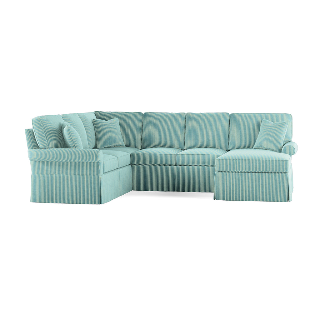 Wilton Skirted Right Arm Facing Medium Chaise Sectional