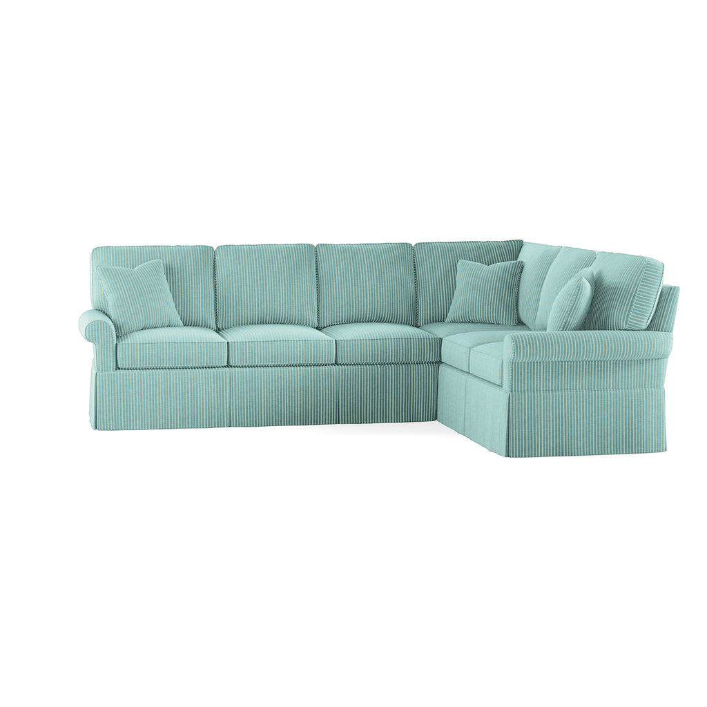 Wilton Skirted Left Arm Facing Sofa Sectional