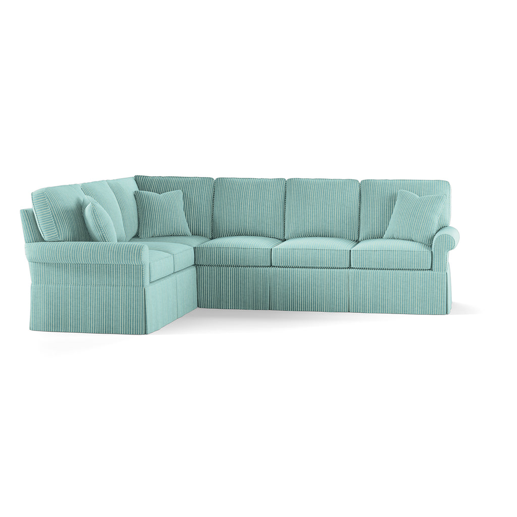 Wilton Skirted Right Arm Facing Sofa Sectional