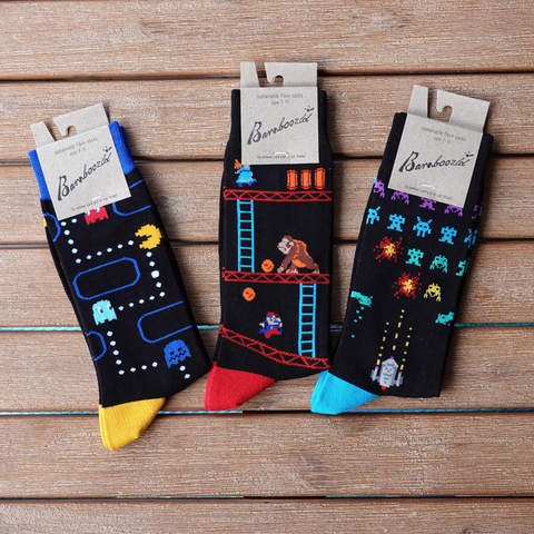 80s Retro Game Bamboo Socks