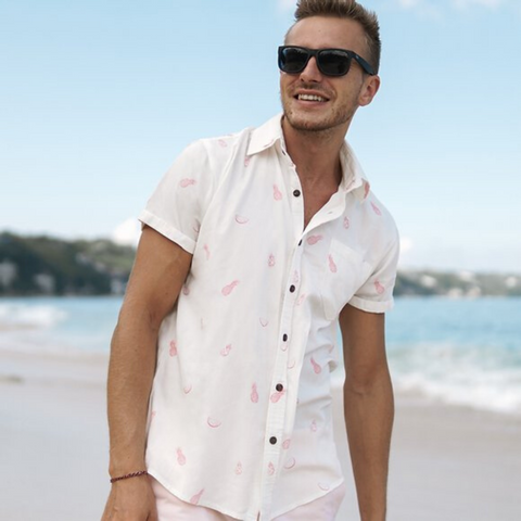 Men's Casual Bamboo Short Sleeve Shirt