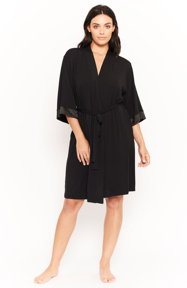 Black Bamboo Sleep Robe