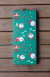 Limited Edition Bamboo Happy Santa Design Sock Card
