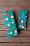 Limited Edition Christmas Happy Santa Design Sock Card