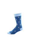 Men's Bamboo Socks Crew Fun Sailing Sizes 7-14.
