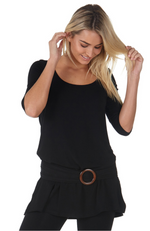 Mid Sleeve Bamboo Tunic Top