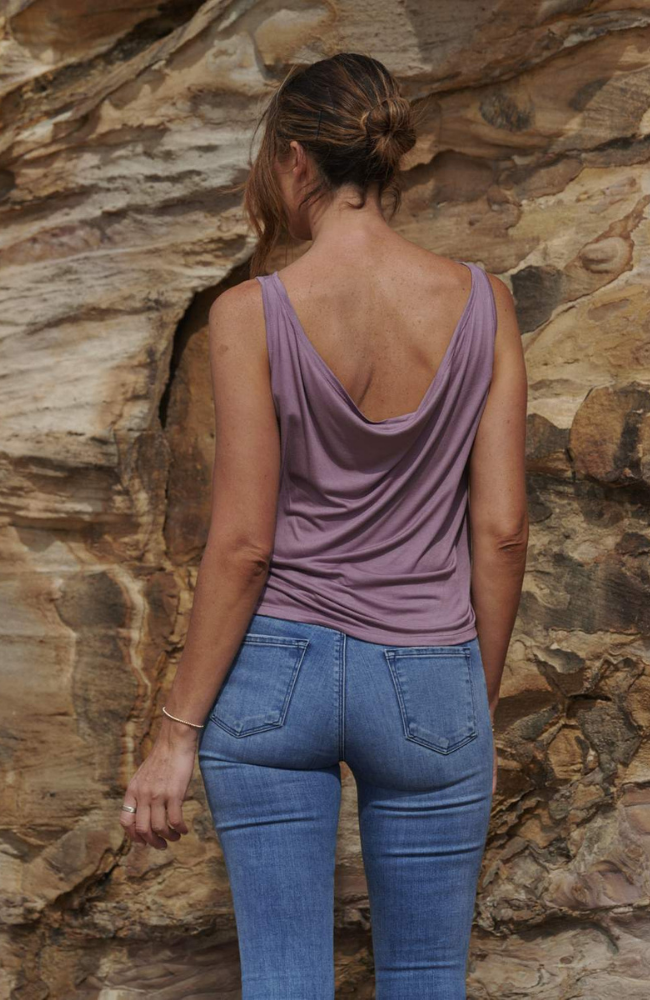 Bamboo Draped Back Singlet