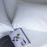Bamboo Fitted Sheet Set - Silver Stripe