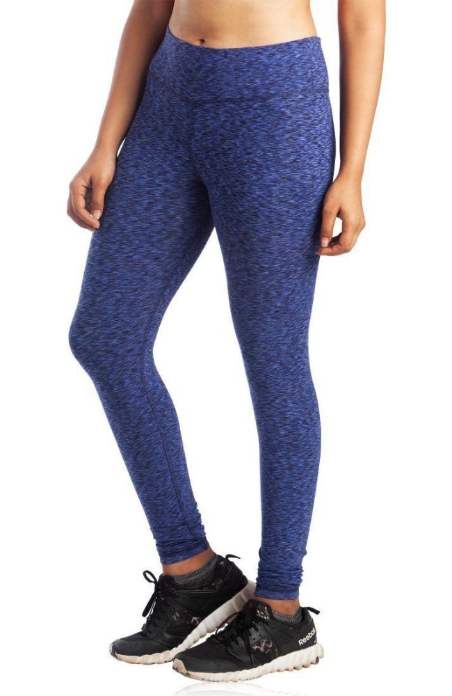 Blue Patterned Full Length Bamboo / Organic Cotton Leggings.