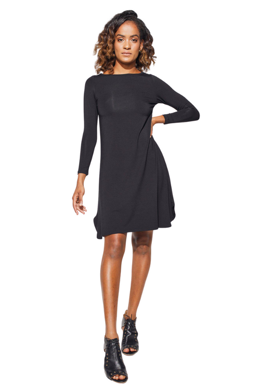 Chic Bamboo Long Sleeve Dress in Black. Label: LouLou.
