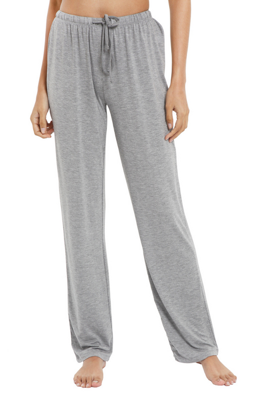 Soft Bamboo Pyjama Pants - Grey Marle