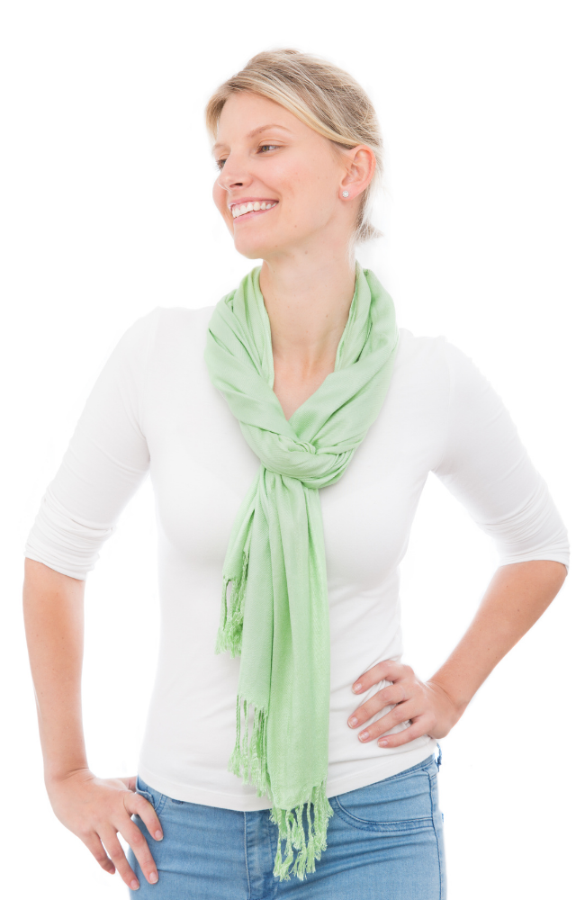 Mint Green 100% Bamboo Scarf