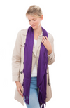 Plum / Purple 100% Bamboo Scarf