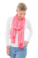 Strawberry Pink 100% Bamboo Scarf