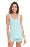 Aqua Green Bamboo Summer PJ Set (shorts & tank)