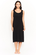 Black Bamboo Midi Sleeveless Dress