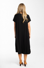 Plus Size Bamboo T-Shirt Dress with Pockets (back)
