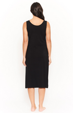 Black Bamboo Midi Sleeveless Dress reverse shot
