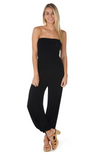 Soft and Drapey Black Harem Style Bamboo Pants in Black.