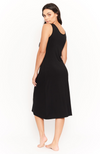 Black Bamboo Sleeveless Dress