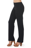Black Straight Leg Bamboo Pants.