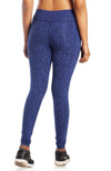 Blue print bamboo leggings.