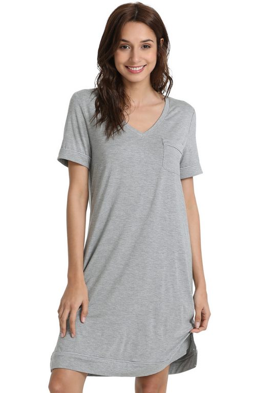 Grey Marle Bamboo T-Shirt Nightie.
