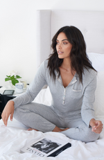 Luxe Soft Bamboo Pyjamas in Grey Marle