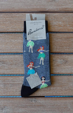 Bamboozld Men's Bamboo Socks - Hula Girl Design.