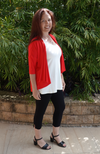 Red Drape Bamboo Cardigan