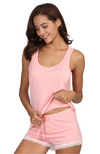 Pink Bamboo Summer PJ Set (shorts & tank)