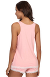 Pink Bamboo Summer PJ Set (shorts & tank) - Back