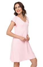 Pale Pink Bamboo T-shirt Nightie