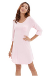 Pink long sleeve bamboo nightie