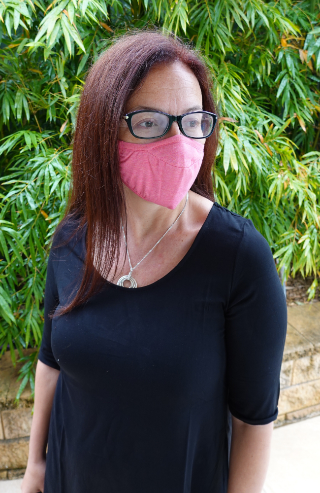 Coral Pink Reusable Bamboo Face Mask for Women