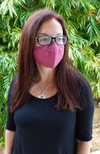 Raspberry Reusable Bamboo Face Mask
