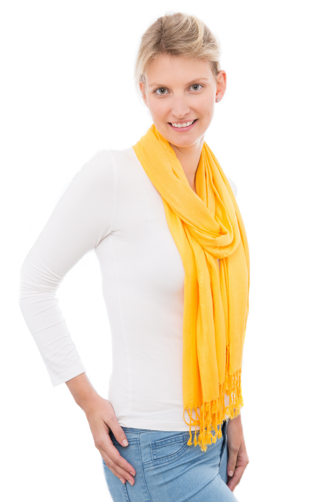 Yellow 100% Bamboo Scarf